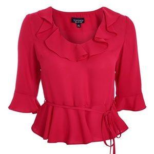 TOPSHOP size 8 Pink Phoebe Blouse